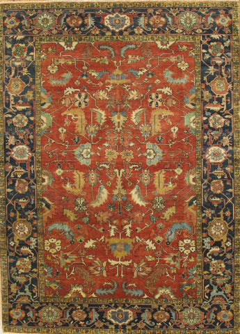 Hand-Knotted Serapi Wool Area Rug
