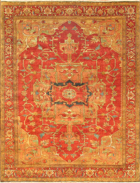 Serapi Design Hand-Knotted Area Rug