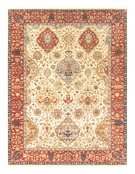 Kerman  Hand-Knotted Lamb's Wool Area Rug