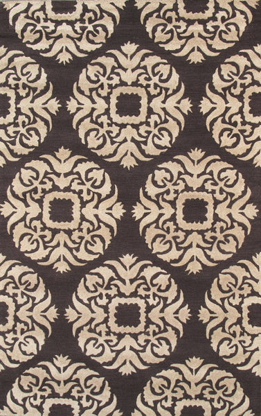 Hand-Tufted Lamb's Wool Brown Area Rug