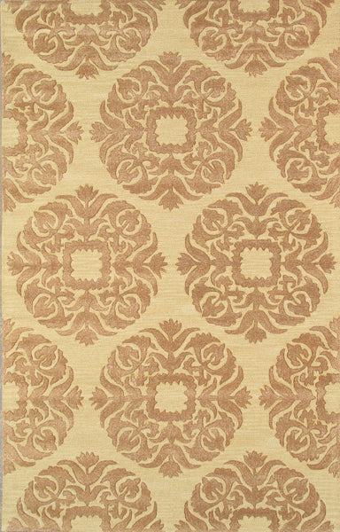 Hand-Tufted Lamb's Wool Gold Area Rug