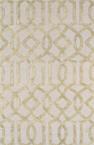 Hand-Tufted Viscose Silk & Wool Gold/Grey Rug