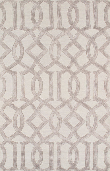 Hand-Tufted V-Silk & Wool Silver Area Rug