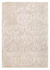 Hand-Tufted Viscose Silk & Wool Ivory Area Rug