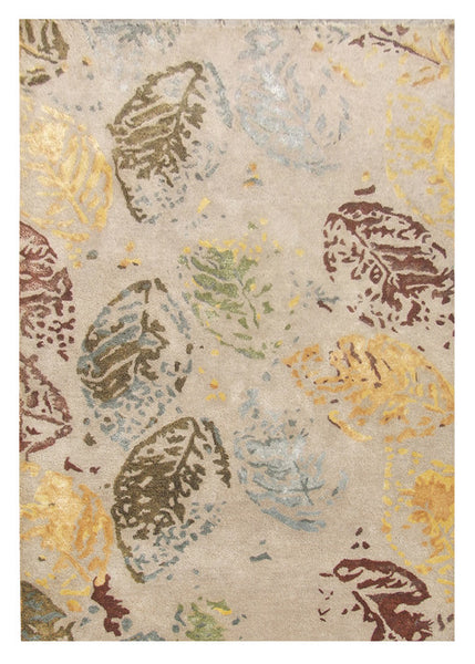 Hand-Tufted Bamboo Silk Gold Area Rug