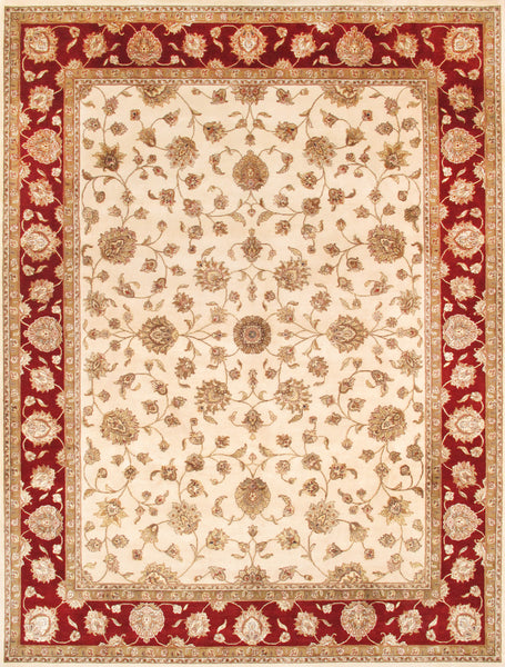 Hand-Knotted Silk & Wool Agra Area Rug