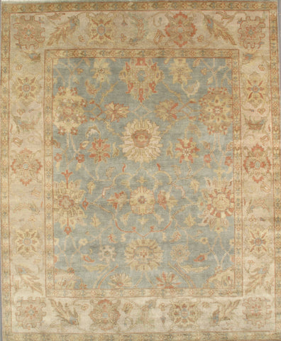 Hand-Knotted Sultanabad Lamb's Wool Area Rug