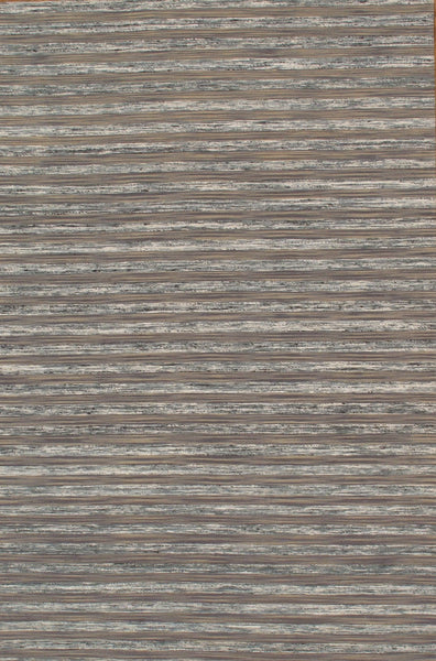 Hand-Loomed Modern Sari Silk Grey Area Rug