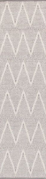 Grey Simplicity Design Hand-Woven Area Rug