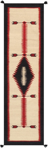 Navajo Style Hand-Woven Wool Area Rug