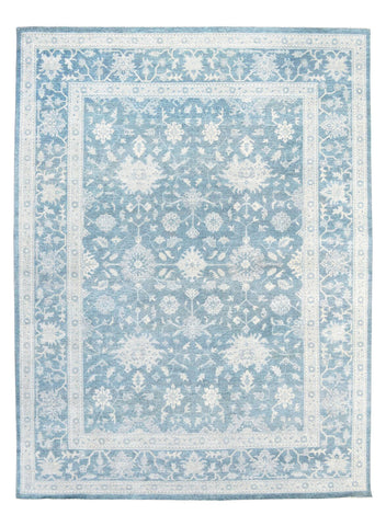 Oushak Design Hand-Knotted Area Rug