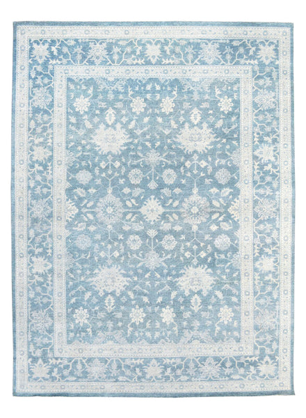 Oushak  Hand-Knotted Bsilk&wool Area Rug