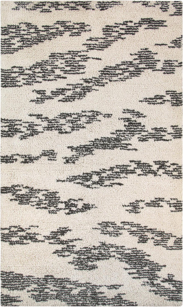 Hand-Knotted Moroccan Brown Area Rug