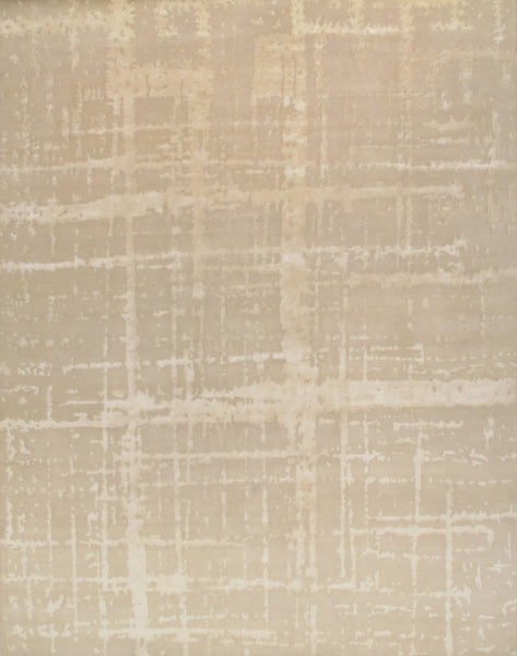 Modern  Hand-Knotted Lamb's Wool Area Rug