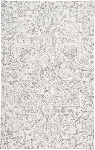 Natal Ivory/Charcoal Tufted Area Rug