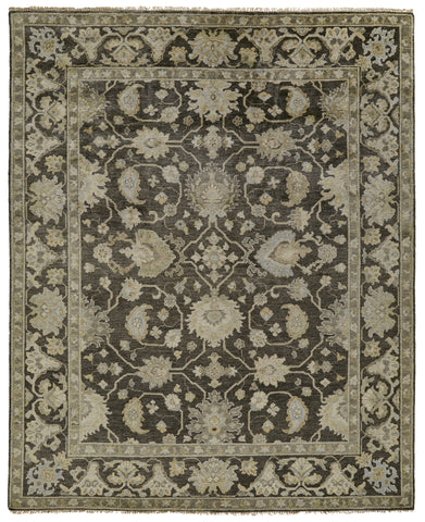 Alden Charcoal/Multi Hand Knotted Area Rug