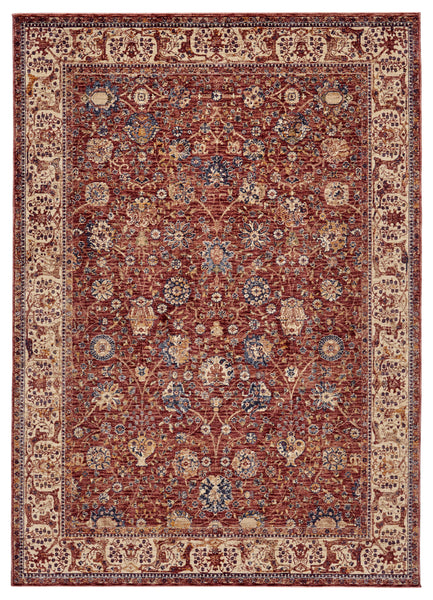 Moberly Rust/Ivory Machine Made Area Rug