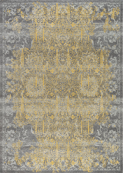 Grey Chelsea Design Power Loomed Area Rug