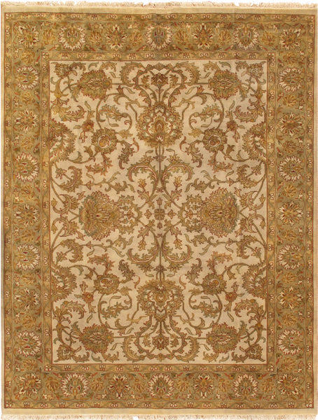 Tabriz  Hand-Knotted Lamb's Wool Area Rug