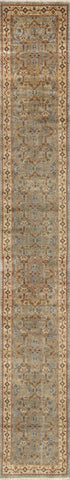 Tabriz Collection Hand-Knotted Lamb's Wool Runner