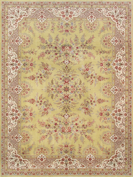 Tabriz  Hand-Knotted Silk & Wool Area Rug