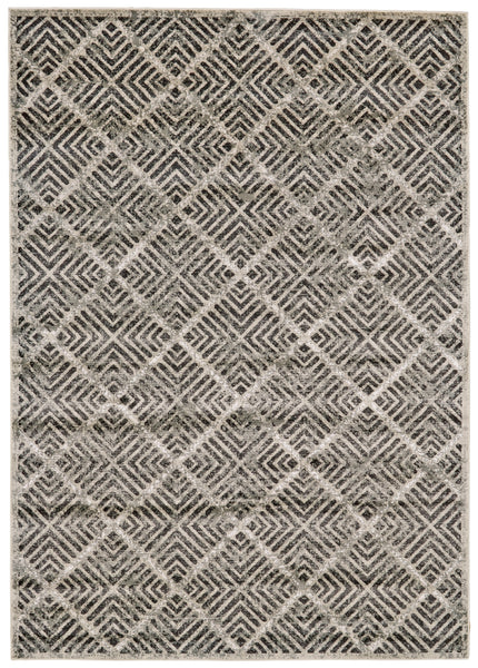 Alessandria Castle/Taupe Machine Made Area Rug