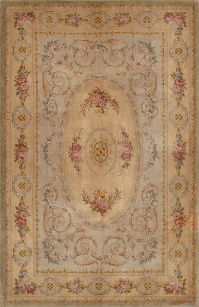 Savonnerie Hand-Knotted Lamb's Wool Area Rug