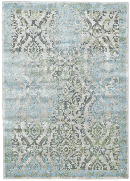 Alessandria Ice/Birch Machine Made Area Rug
