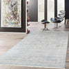 Transitional Hand-Knotted Grey Area Rug