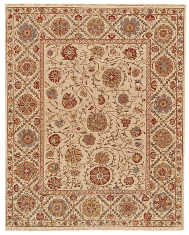 Sulli Beige Hand Knotted Area Rug