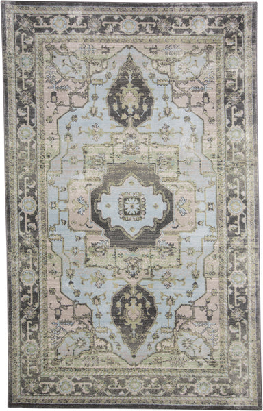 Alessandria Taupe/Castle Machine Made Area Rug