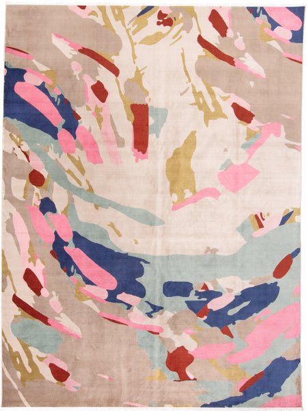 Tessina Pink/Multi Machine Made Area Rug