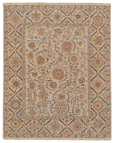 Sulli Light Gray Hand Knotted Area Rug