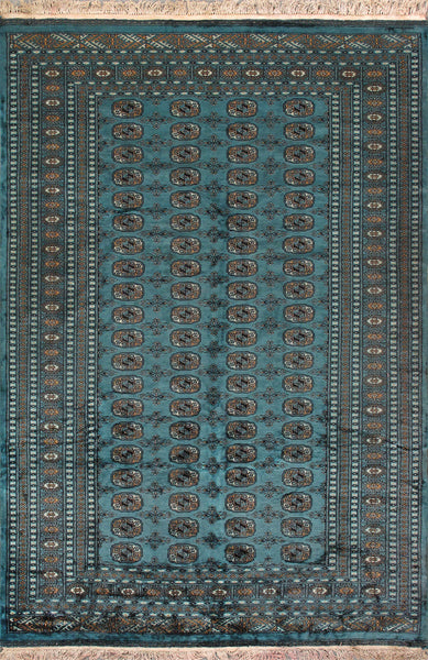 Bokara Collection Hand-Knotted Wool Area Rug