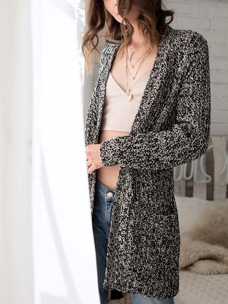 ASTARS Dublin Cocoon Cardigan Heathered Black/Ivory