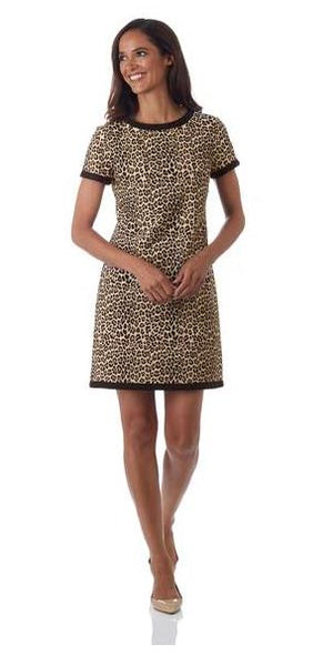 Jude Connally Parker T-Shirt Dress Mini Leopard Camel