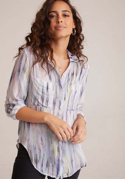 Bella Dahl Hipster Shirt Feather Stripe