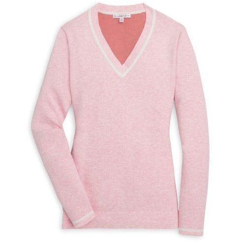 Peter Millar Tipped V-Neck Sweater Fizz