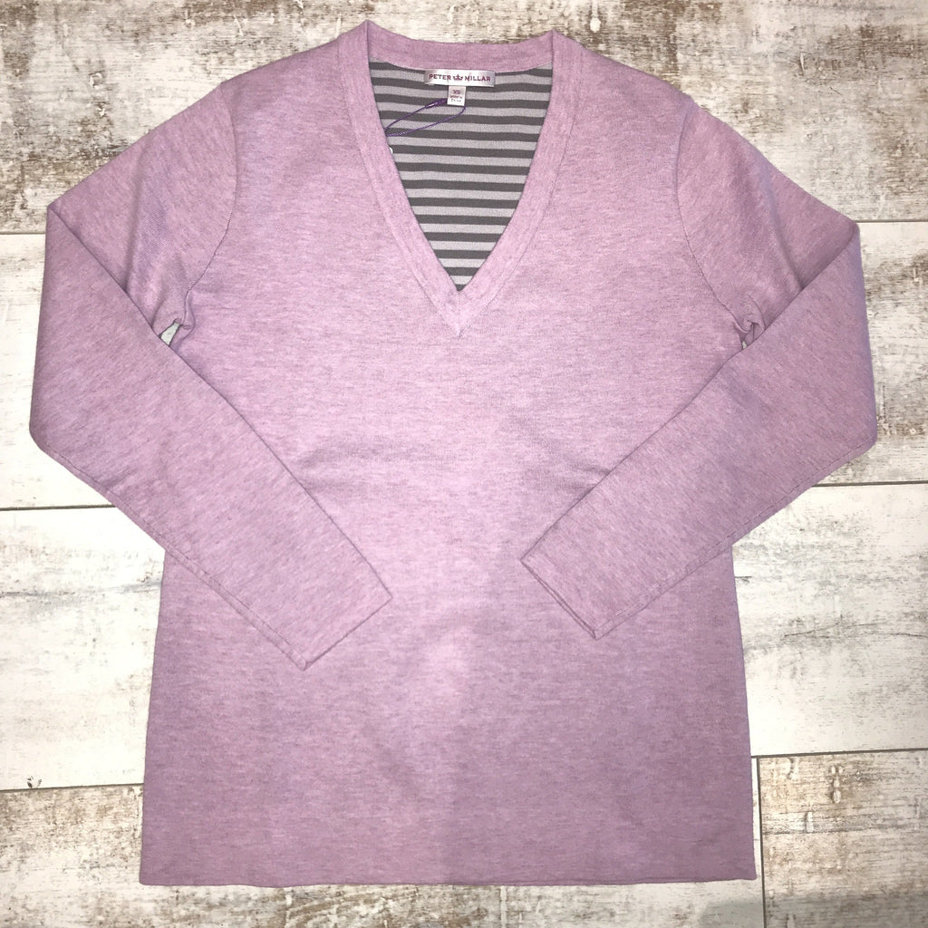 Peter Millar V-Neck Cotton-Poly-Plaited Sweater