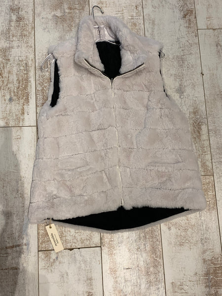 Dylan Reversible Fur Love Vest Vintage White