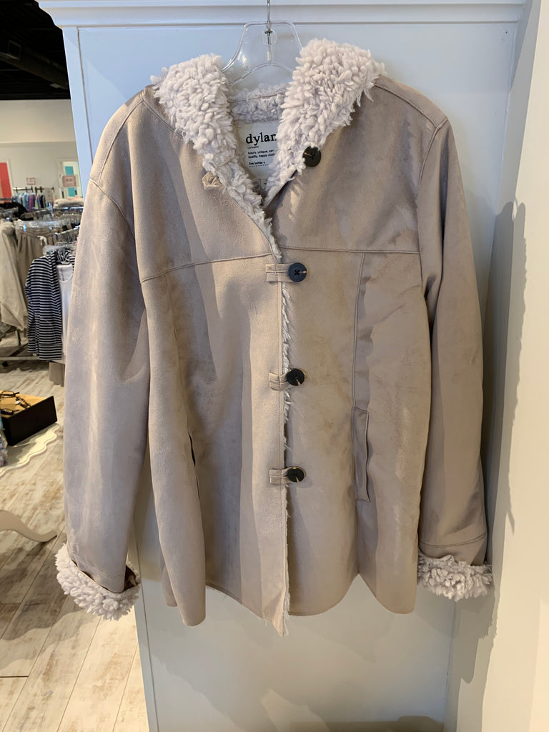 Dylan Shearling Jackson Coat Natural