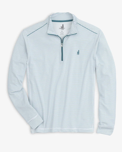 Johnnie-O Homan Prep-Performance 1/4 Zip Pullover  White