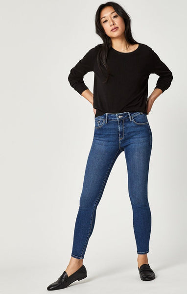 MAVI ADRIANA ANKLE SUPER SKINNY IN MID INDIGO SUPERSOFT