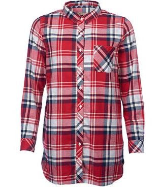 Barbour Bressey Shirt Grey/Chilli Red