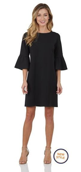 Jude Connally Shelby Dress  Ponte Knit - Black