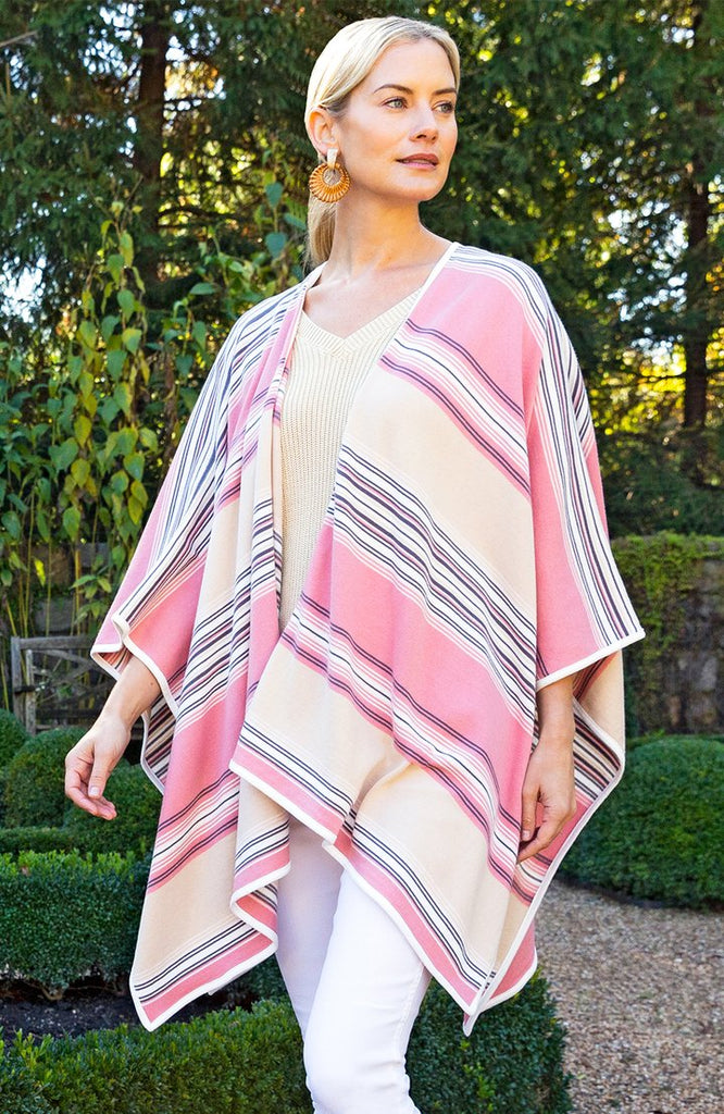 Tyler Boe Striped Sweater Wrap Multi Bisque