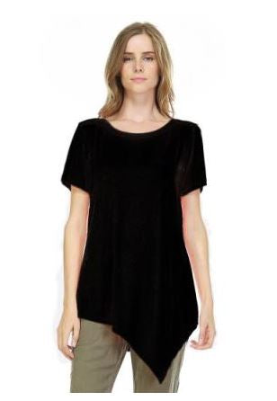 JOH Kendall Crew Neck Short Sleeve Top Black