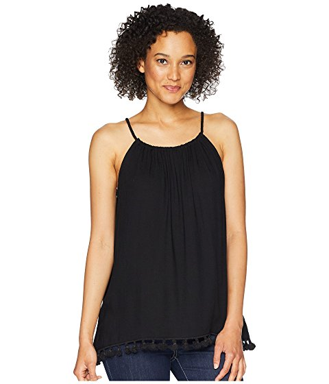 Dylan Tassel Tie Top Black