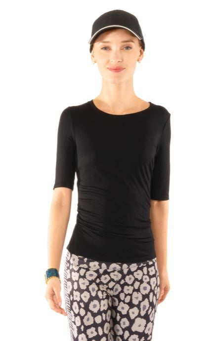 Gretchen Scott Beyond The Beyond Softest Short Sleeve T-Shirt Black