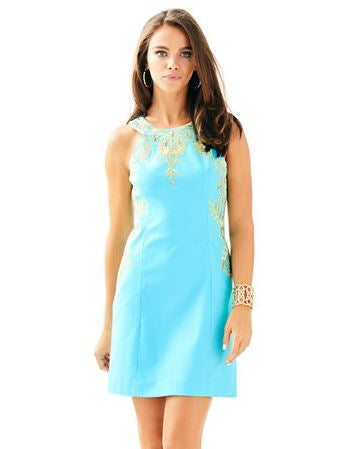 Lilly Pulitzer Blue Ibiza Tina Stretch Shift Dress